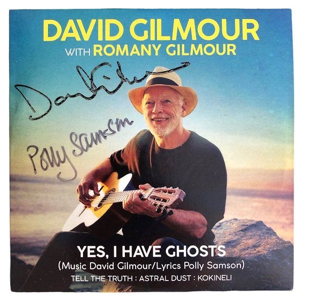 David Gilmour Polly Samson Autographed CD Yes, I have Ghosts - Pink Floyd