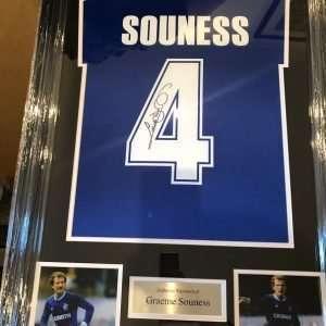 Graeme Souness autographed Rangers Football Club shirt Framed