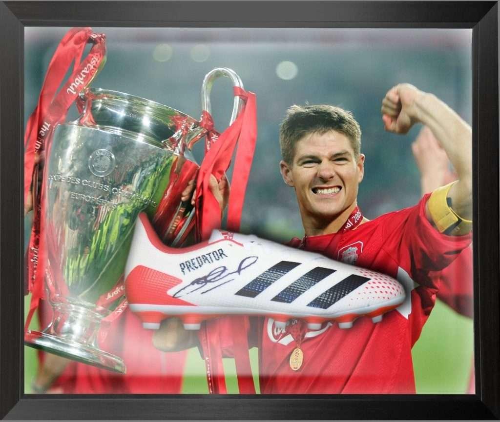 Steven Gerrard Autographed Predator football boot Liverpool Rangers