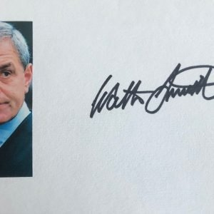 Walter Smith Autograph Card Rangers FC Manager 6x4